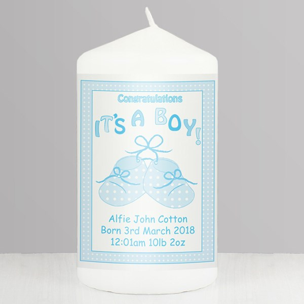 Bootee It's a Boy Candle