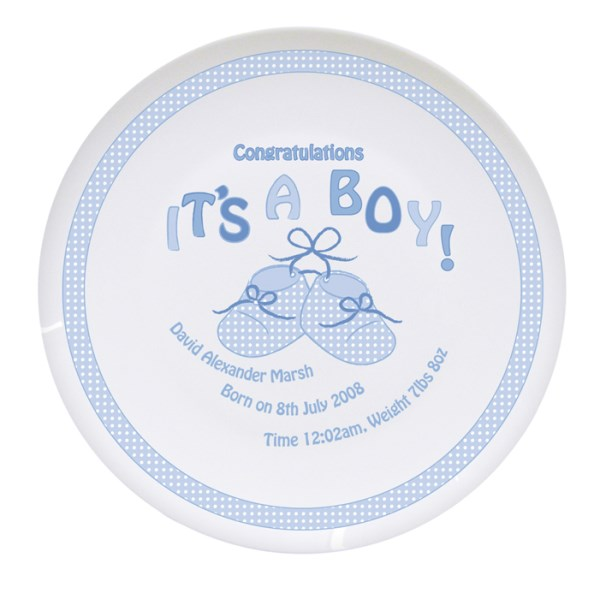 Bootee It's a Boy Plate