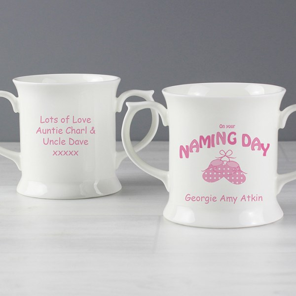 Bootee Pink Naming Day Loving Mug