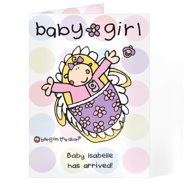 Bang On The Door Baby Girl card
