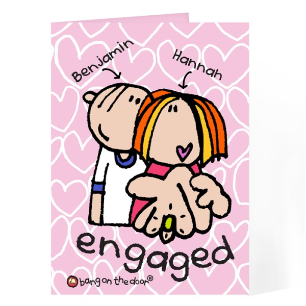 Bang On The Door Engaged card