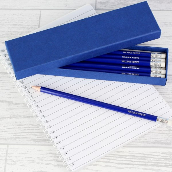 Box of 12 Blue HB Pencils