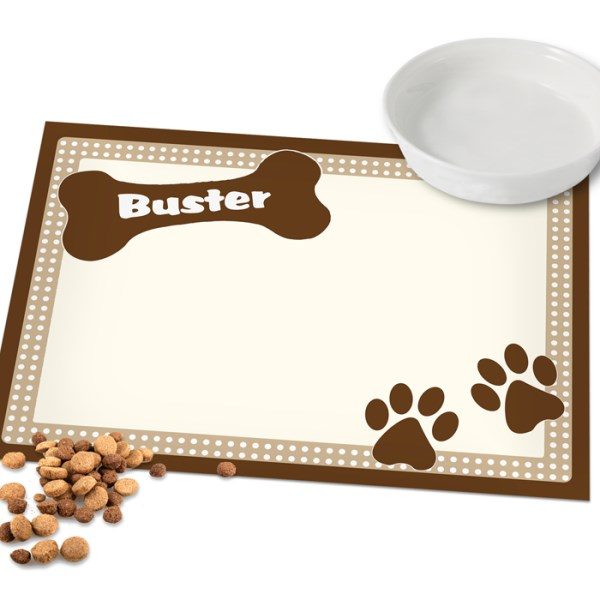 Brown Dotty Dog Laminated Print Placemat