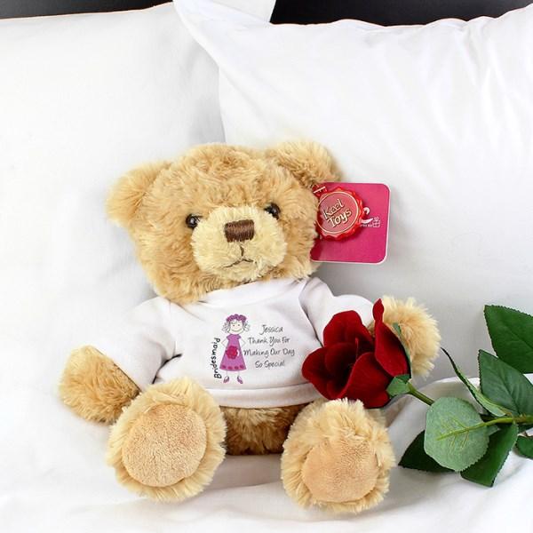 Cartoon Bridesmaid Teddy