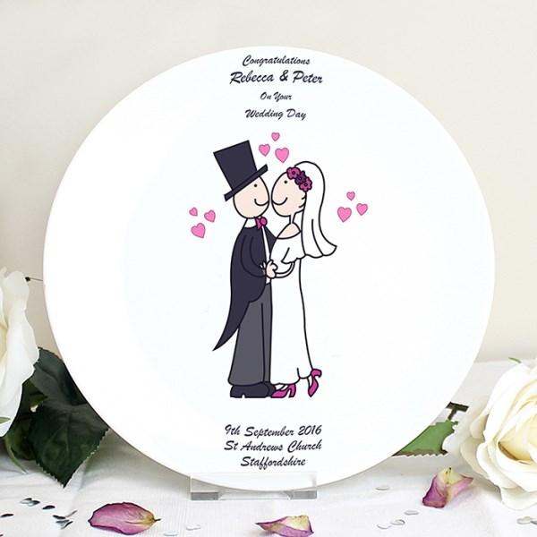 Cartoon Couple Plate