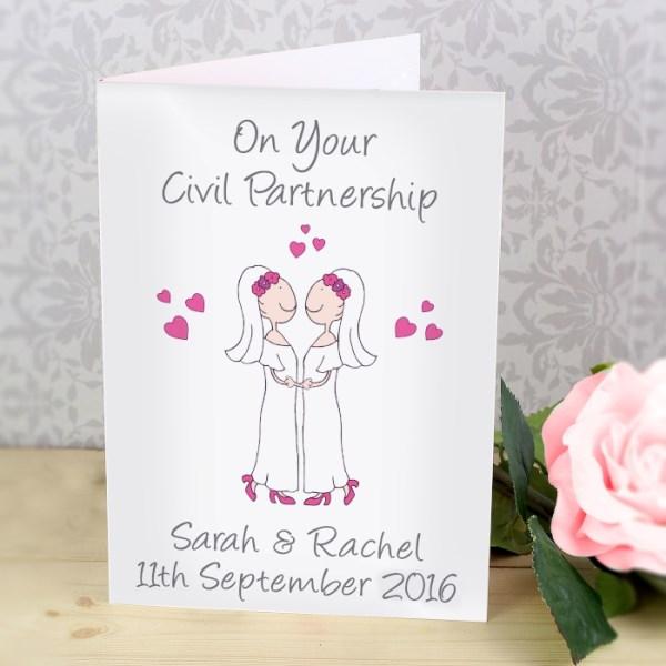 Cartoon Female Partnership Card