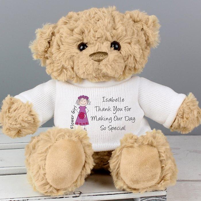 Cartoon Flower Girl Teddy