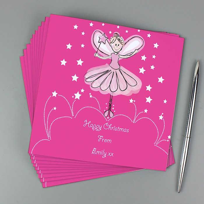 Christmas Fairy Pack of 20 Invitations