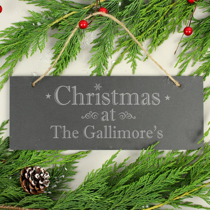 Christmas Hanging Slate Plaque