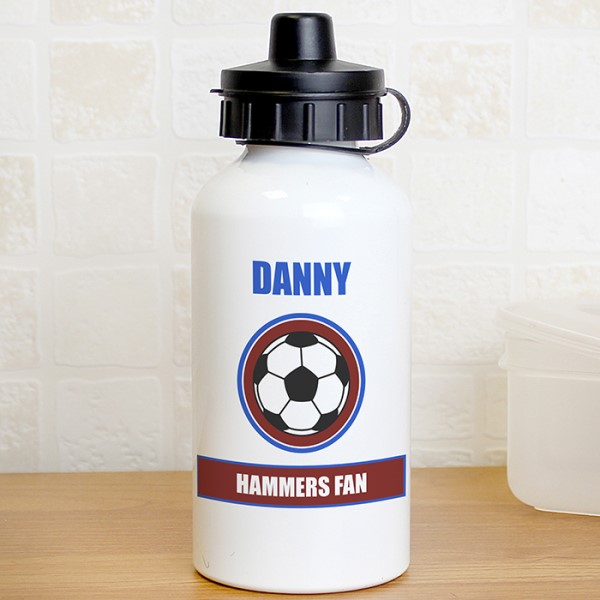 Claret and Blue Football Fan Drinks Bottle
