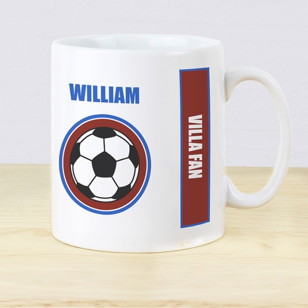 Claret and Blue Football Fan Mug