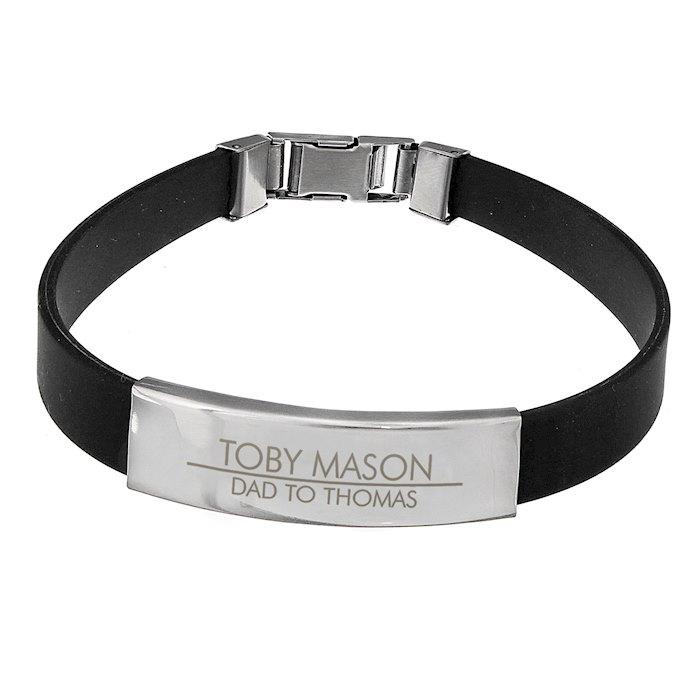Classic Stainless Steel Men's Black Bracelet
