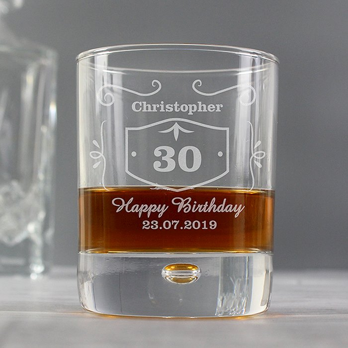 Classic Whisky Style Tumbler Bubble Glass