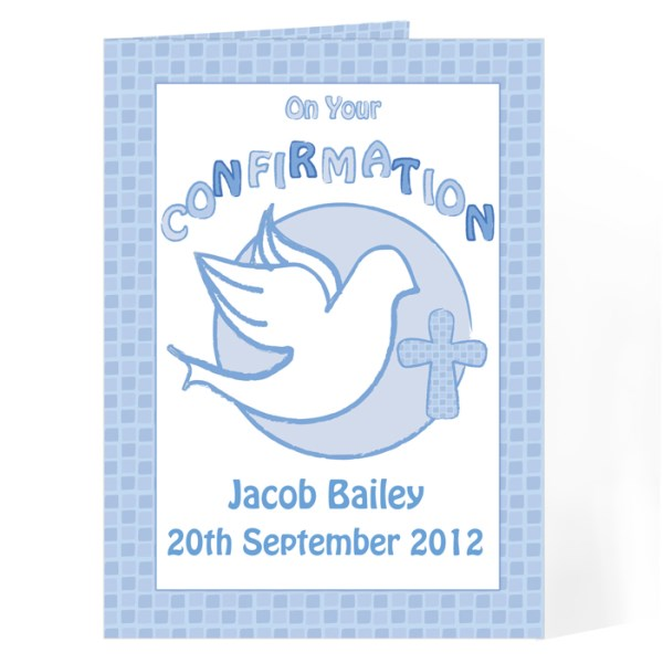 Confirmation Card-Blue