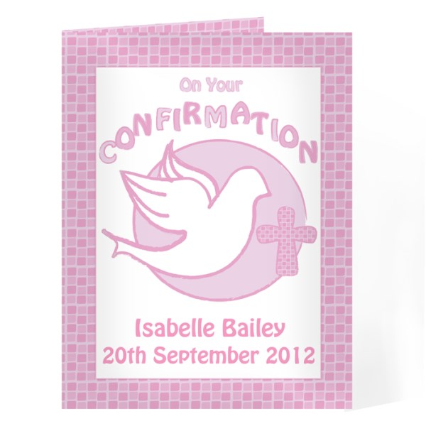 Confirmation Card-Pink