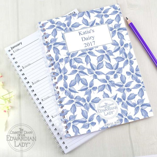 Country Diary Blue Blossom A5 Diary