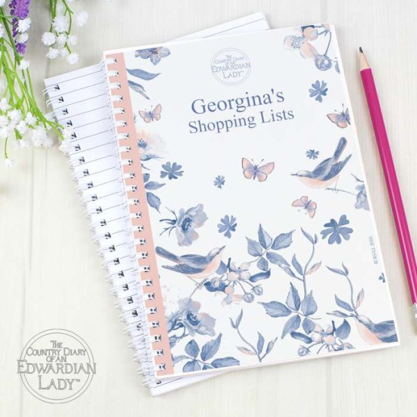 Country Diary Blue Blossom A5 Notebook