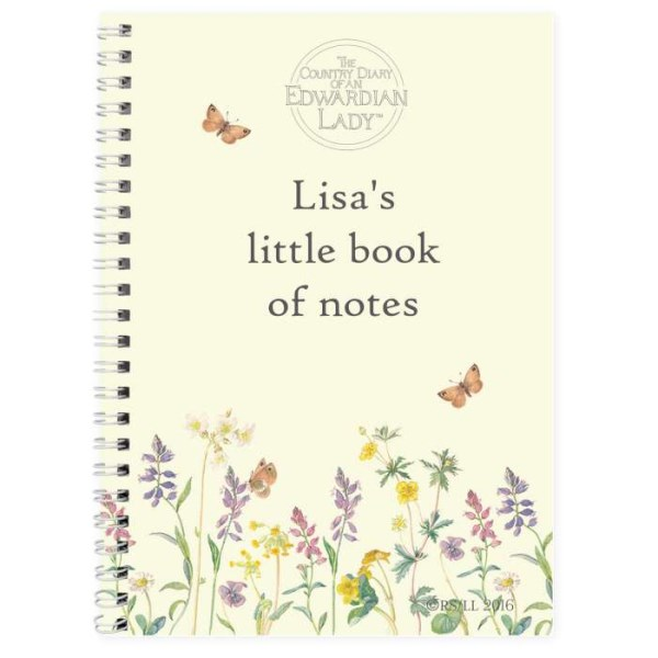 Country Diary Wild Flowers A5 Notebook