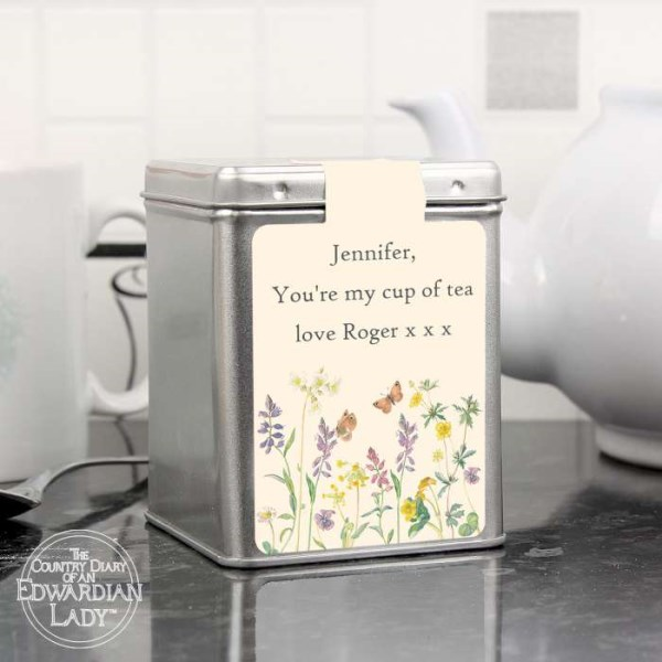Country Diary Wild Flowers Tea & Tin