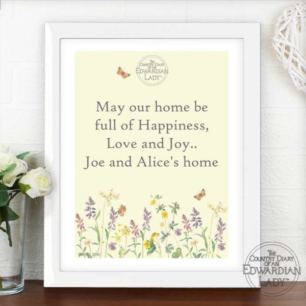 Country Diary Wild Flowers White Framed Poster Print