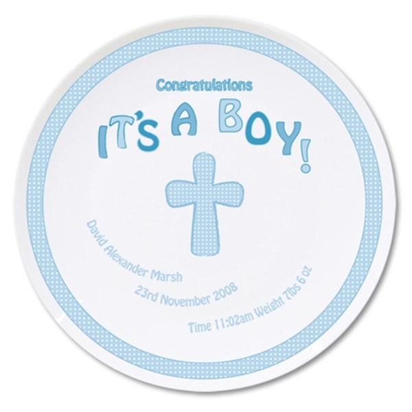Cross It's a Boy Plate