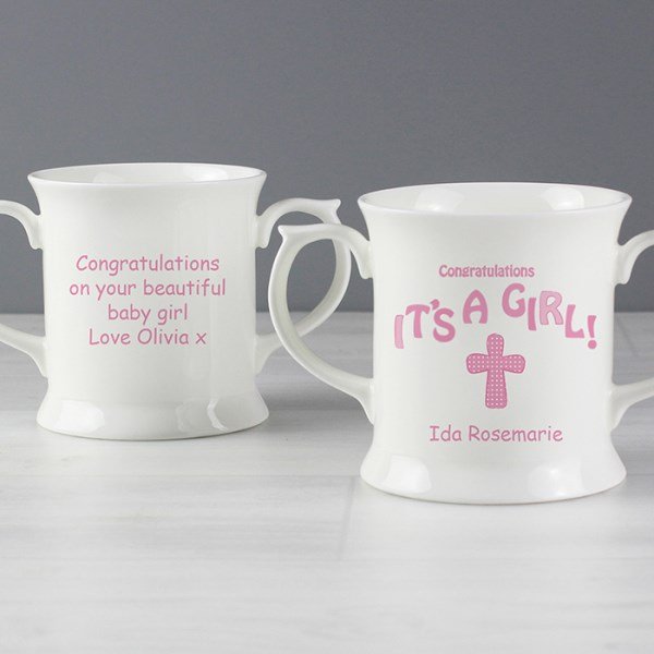 Cross It's a Girl Loving Mug
