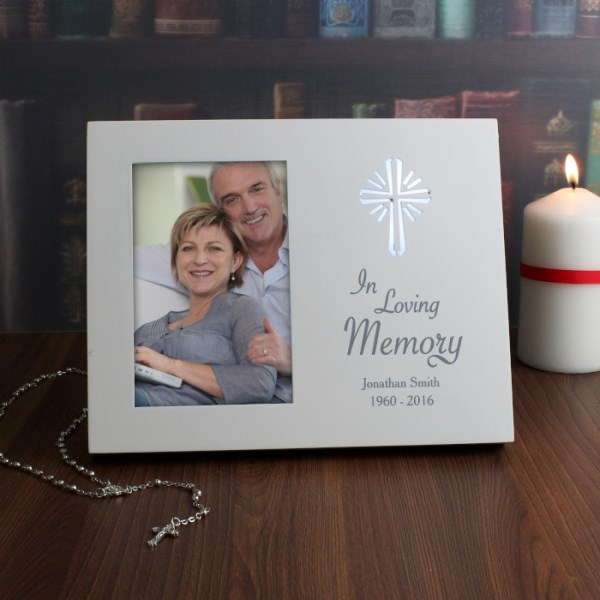 Cross Loving Memory 4x6 Light Up Frame