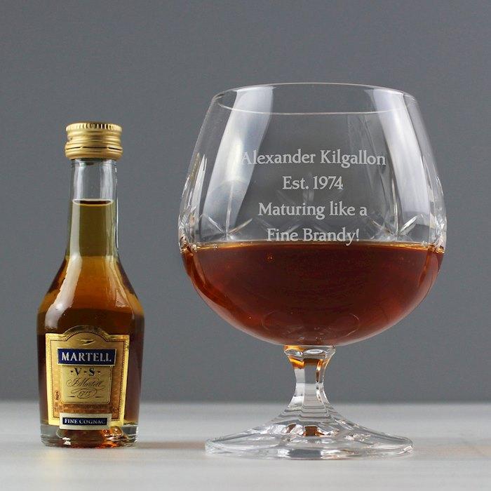 Cut Crystal & Brandy Gift Set