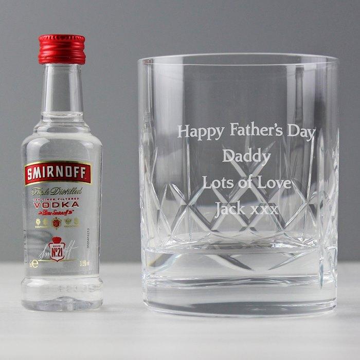 Cut Crystal & Vodka Gift Set