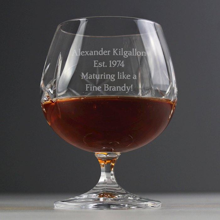 Cut Crystal Small Brandy Glass