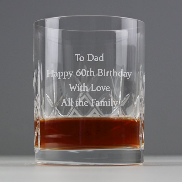Personalised Cut Crystal Tumbler