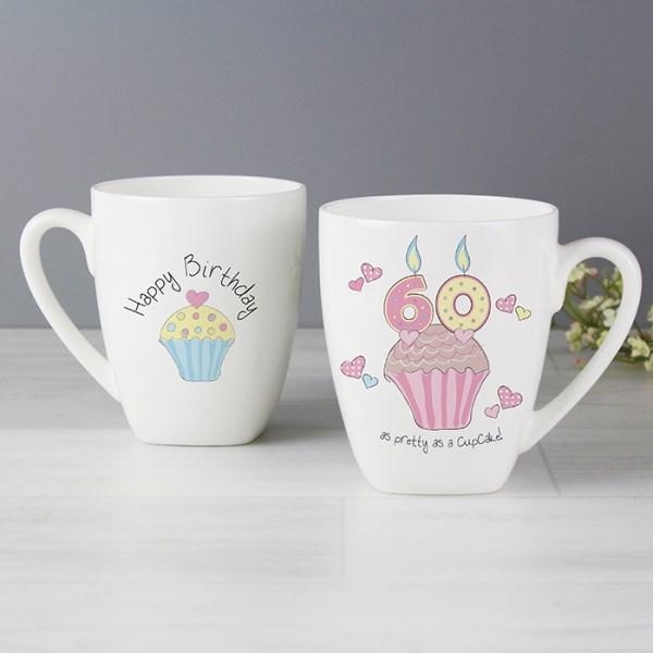 Cupcake 60th Birthday Latte Mug