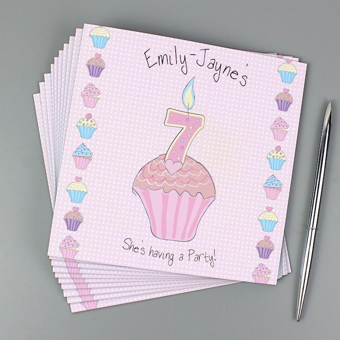 Cupcake Pack of 20 Invitations