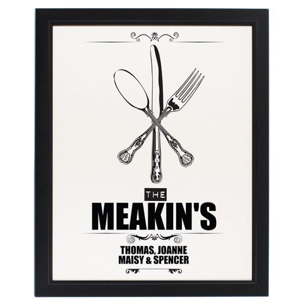 Cutlery Black Framed Poster Print