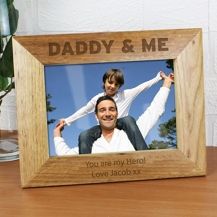 Daddy & Me 7x5 Wooden Photo Frame