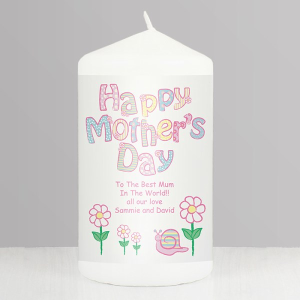 Daisy Happy Mother's Day Candle