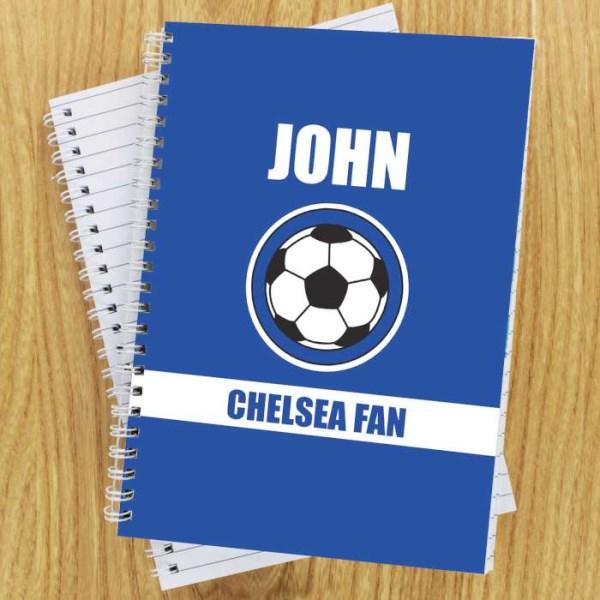 Dark Blue Football Fan A5 Notebook