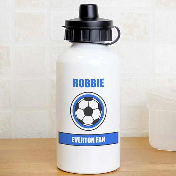 Dark Blue Football Fan Drinks Bottle