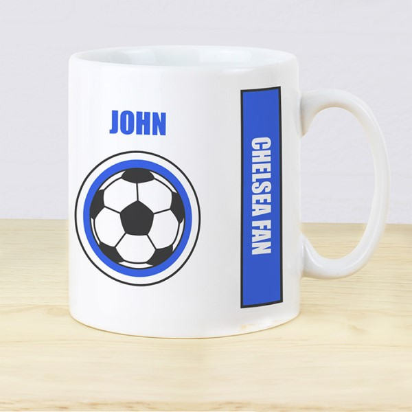 Dark Blue Football Fan Mug
