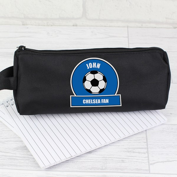 Dark Blue Football Fan Pencil Case