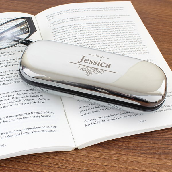 Decorative Glasses Case in Chrome