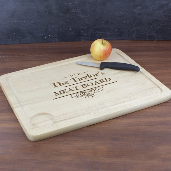 Decorative Swirl Meat Carving Board