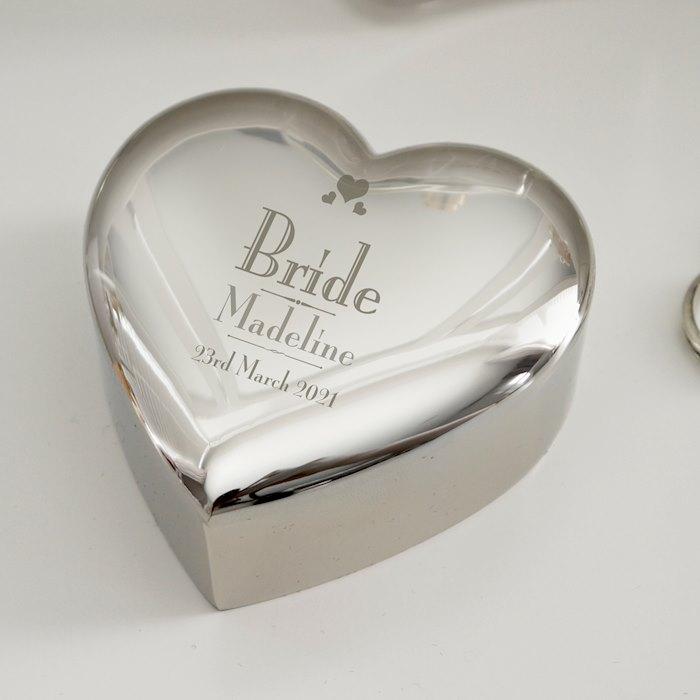 Decorative Wedding Bride Heart Trinket Box