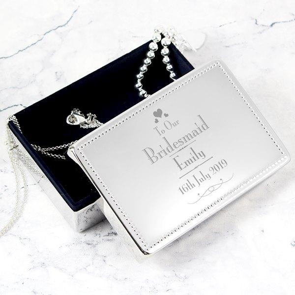 Decorative Wedding Bridesmaid Jewellery Box