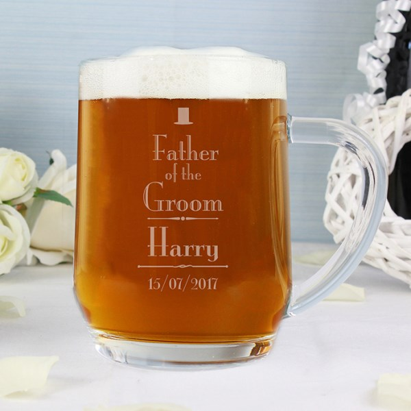 Decorative Wedding Father of the Groom Tankard