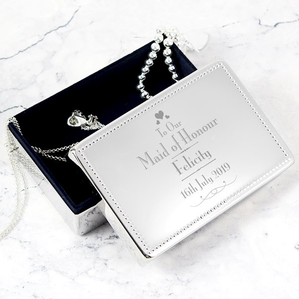 Decorative Wedding Maid of Honour Jewellery Box