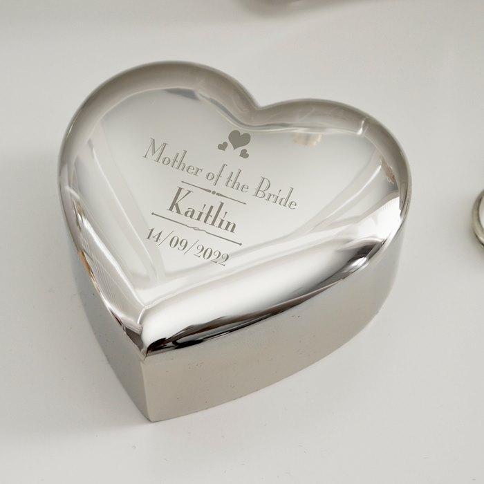 Decorative Wedding Mother of the Bride Heart Trinket Box