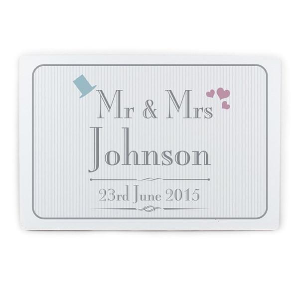 Decorative Wedding Mr & Mrs Plaque