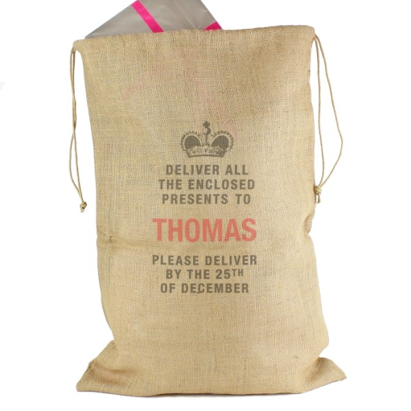 Deliver Presents To... Hessian Sack