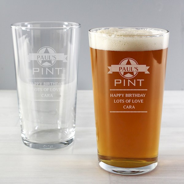 Diamond Pint Glass